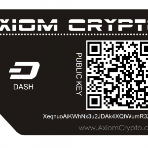 Axiom Crypto Paper Wallet for Dash