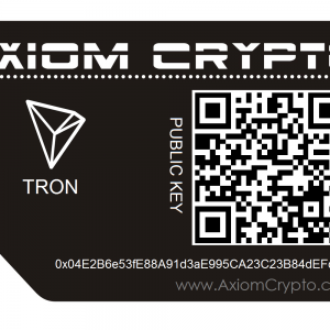 Tron Paper Wallet Card
